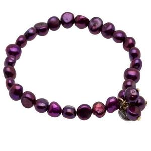 Pearls for Girls armband med lila pärlor
