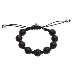 Pearls for Girls armband, shamballa-stil