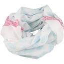 Qnuz scarf, turkos mönster