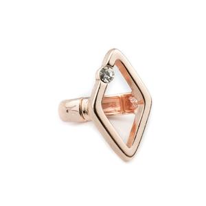 VÅGA smycken, ring fyrkant Gemma rose