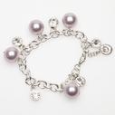 Pearls for Girls. Armband med rosa pärlor