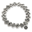 Pearls for Girls armband hjärtan silverpläterat
