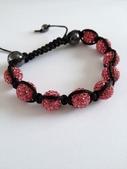 Shamballa armband rosa bling