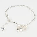 Pearls for Girls. Silverpläterat armband