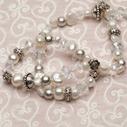 Pearls for Girls. Halsband med pärlor och silverdetaljer, längd 110 cm