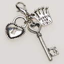 Pearls for Girls. Berlock nyckel och lås.