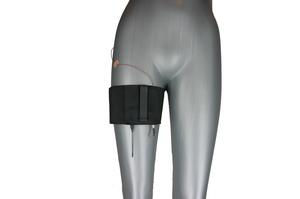 Black thigh belt