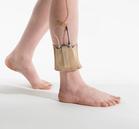 Beige ankle belt