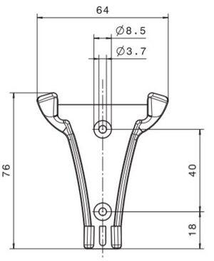 Hållare till nödhammare T-modell