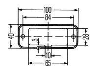 Positionslykta 24V vit LED