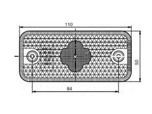 Sidomarkering  LED 24V 110 x 50