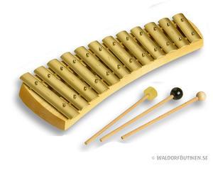 Musikinstrument: Klockspel Diatoniskt 12 toner (KDH012)