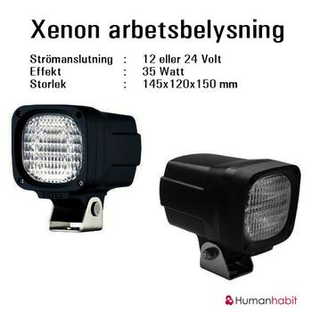 35W Xenon aluminium arbetsbelysning