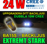 Ba15s 24 Watt LED backljus CREE