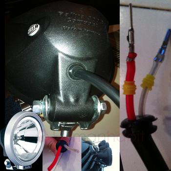 Gummigenomföring som passar förlängingskabel med AMP kontakter