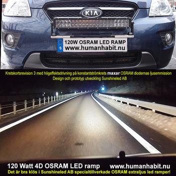36-288W LED ramp Osram 4D optik E-mark EMC sidomonterad 2016