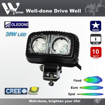 20W CREE LED mini arbetsbelysning OLEDONE 9-50V