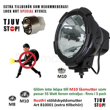Trepack 55W Xenon Extraljus Ø205mm 12V