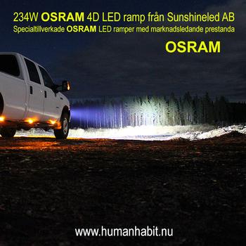 72W-300W LED ramp combo valbar storlek 9-32V
