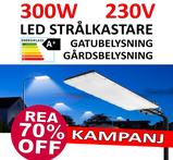 300W LED gårdbelysning & gatubelysning för vägg eller stolpmontage