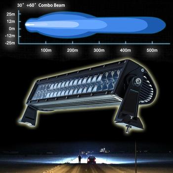 120W LED ramp Osram 4D optik COMBO sidomonterad