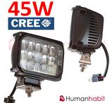 45W CREE LED extraljus, huvudstrålkastare halv / helljus funktion h4 kontakt  3900 lumen