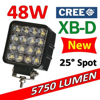 48W LED extraljus spot 25° CREE XB-D 12-24V