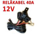 Reläkabelsats 40A med strömbrytare för 12 Volt utrustning