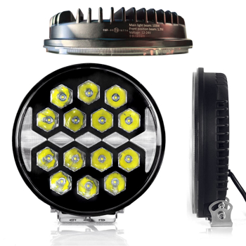 100W slimmat LED extraljus Ø220mm E-märkt 9-32V