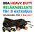 Reläkabelsats 80A Heavy Duty för 3st extraljus eller 3st xenon ballast (drivdon)