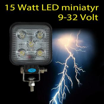 15W mini LED arbetsbelysning 60° 12-24V L0068F