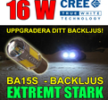 Ba15s 16 Watt LED backljus CREE