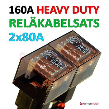 160A reläkabel med valbar anslutningskabel för 2 till 10 st extraljus med AMP eller Deutsch DT kontakter!