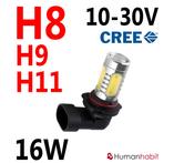 16W H8 dimljus CREE LED 10-30V