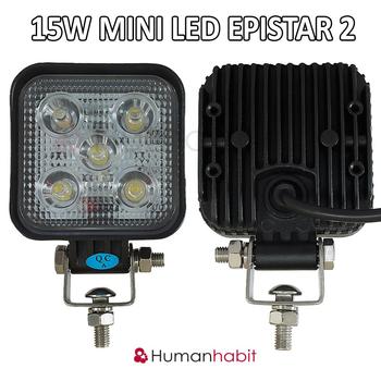 6 pack 15W mini LED arbetsbelysning 60° 12-24V