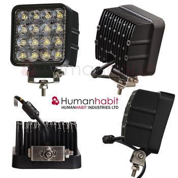 4 pack 27W + 2 pack 48W LED flerpack rabattköp 60° CREE 12-24V 24500 lumen
