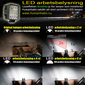 20W CREE XT-E LED arbetsbelysning 60° 12-24V - L0074