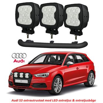 80W LED arbetsbelysning / LED extraljus 8x10W CREE