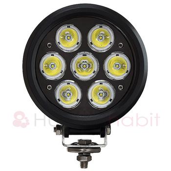 70W LED arbetsbelysning / LED extraljus 7x10W CREE