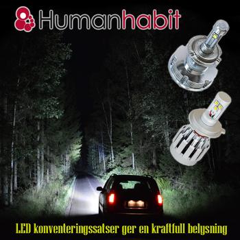 LED konvertering 6000 lumen Extreme Tri-Color  Valbara lampsocklar 9-32V