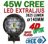 45W LED extraljus CREE diameter 140 mm