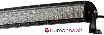 120-300 Watt LED extraljus ramp med curved böjt chassi 9-32V Utförsäljning