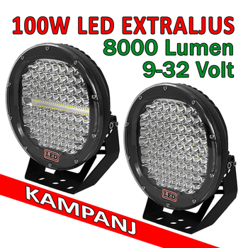 100W LED extraljus diameter 225mm 9-32V