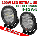 100W LED extraljus diameter 225mm 9-32V