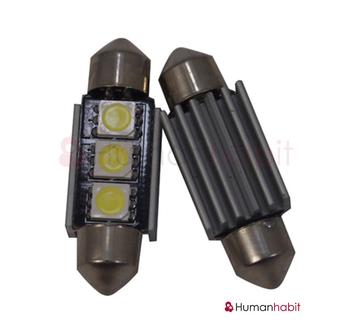 36mm spollampa Canbus med 3st 5050 SMD med kylfläns non-polarized