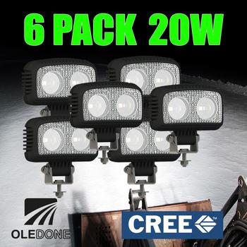 6 pack 20W CREE LED flerpack rabattköp OLEDONE® 9-50V