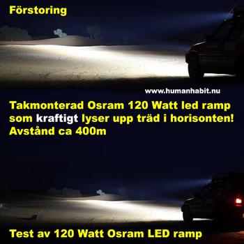 336W LED ramp Osram 5D optik COMBO fäste undertill