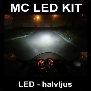 3500 lumen MC LED kit för 9-36V H4 H6 BA20S P15D