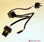 H4 adapter 12-24V för reläkabellös bi-xenon montering