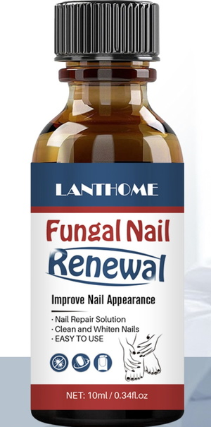 LANTHOME Renew Herbal Anti Fungal Nail Infection Fungus removal and Treatments Oil Liquid Brush Kit